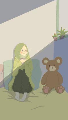 Girl Cartoon, Cartoon Art, Drawing Themes, Hijab Drawing, Islamic Cartoon, Anime Muslim, Hijab Cartoon, Islamic Girl, Cute Cartoon Wallpapers