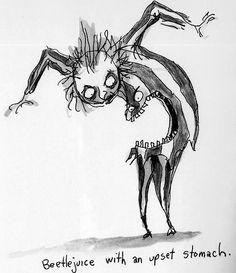by Tim Burton characters illustration tim burton Every day is Halloween Tim Burton Sketches, Art Tim Burton, Tim Burton Stil, Tim Burton Artwork, Tim Burton Kunst, Film Tim Burton, Burton Burton, Estilo Tim Burton, Jack Skellington