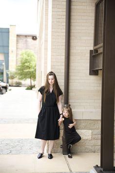 Vintage Dress + Made in USA // Mom & Me : all black