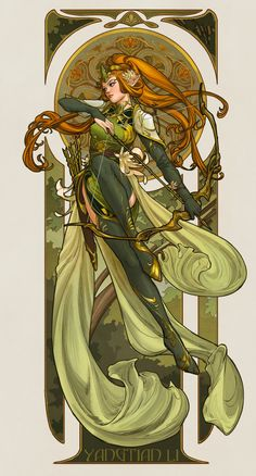 """First time participating character design challenge on FB , really wanted to do an elf warrior haha! When I saw it I immediately thought of """"record of the Lodoss war"""", I loved the art style even before I knew what art nouveau and mucha is 😂 but obviously Character Design Challenge, Character Design Sketches, Character Design Inspiration, Fantasy Character Design, Character Concept, Character Art, Concept Art, Elf Characters, Fantasy Characters"""