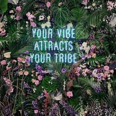 Your vibe attracts your tribe #neonwall #neon #partydecor