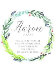 Custom Memorial Wreath Print  for infant loss & pregnancy loss