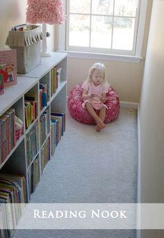 Attempting Aloha: Playroom Reading Nook in small window nook