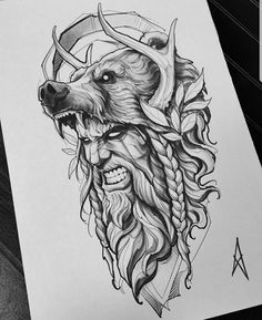 Zeus Tattoo, Norse Tattoo, Armor Tattoo, Lion Tattoo, Owl Tattoo Drawings, Tattoo Sketches, Best Sleeve Tattoos, Tattoo Sleeve Designs, Bear Tattoos