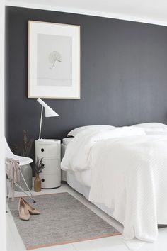 Medium gray bedroom wall