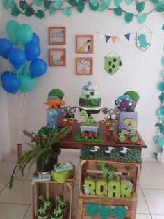 Dinosaur Party, Dinosaur Birthday, Dinasour Cake, Third Birthday, Baby Boy Shower, First Birthdays, Party Themes, 1, Ideas Party