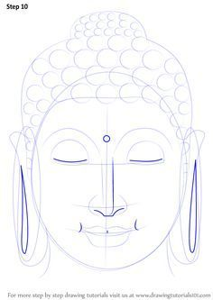 Face Drawing Learn How to Draw Buddha Face (Buddhism) Step by Step : Drawing Tutorials Buddha Painting Canvas, Art Painting, Indian Art Paintings, Art Drawings, Buddha Art Painting, Buddha Art Drawing, Canvas Art, Zen Painting, Canvas Painting