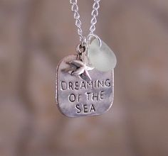 Dreaming of the Sea Silver Pendant Necklace by luvswoodencars2
