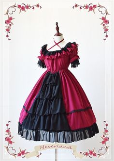 neverland-lolita-colorful-fairy-tales-chiffon-tailored-short-sleeves-lolita-op-dress-with-front-open-design-27.jpg (650×916)