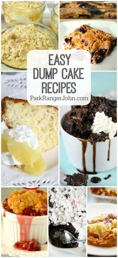 17 Easy Dump Cake Recipes anyone can make even if you are not the worlds best baker. Trust me if I can make one so can you!