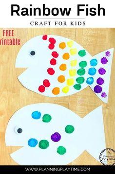 Fun Rainbow Fish Craft Activity for kids.