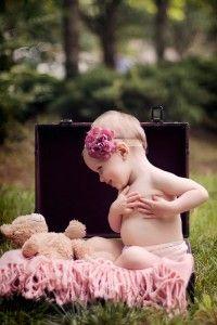 Baby Girls Cabbage Flower Headband - Pink Baby Boutique