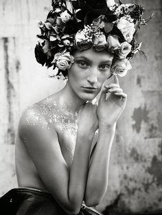 Gypsy Girl| Franziska Mueller by Benjamin Vnuk for Elle Sweden December 2013!