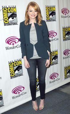 Love this jacket on Emma Stone!