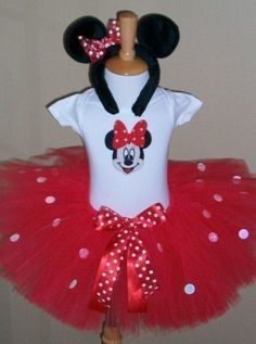 Red Sparkle Minnie Mouse Costume set by sweetiepietutus on Etsy Minnie Mouse Costume, Minnie Mouse Theme, Mickey Minnie Mouse, Paisley, Halloween Outfits, Halloween Clothes, Costume Halloween, Mickey Party, My Princess
