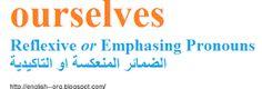 Reflexive or Emphasizing Pronouns الضمائر