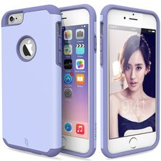 ULAK SUGAR CANDY Slim Hybrid [Corner Protection] Dual Layer Shockproof Silicone Case for Apple iPhone 6 / 6S 4.7 Inch (Purple) #tech #ulak See detail at http://zingxoom.com/d/cwHHJ8iu