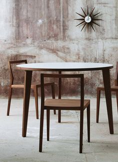 Ghost natural chair in solid ash or walnut designed by Mint