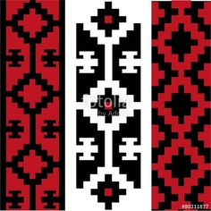 Vector: Guardas tradicionales paq de 3 Loom Patterns, Beading Patterns, Cross Stitch Patterns, Inkle Weaving, Inkle Loom, Bracelete Tattoo, Native American Wisdom, African Crafts, Native Design