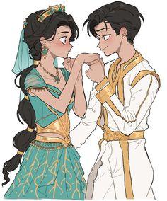 Disney Jasmine, Aladdin And Jasmine, Disney Fan Art, Disney Love, Aladdin Princess, Flame Princess, Princess Aurora, Adventure Time Princesses, Disney Princess Pictures
