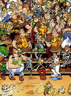 Les personnages d'Astérix et Obélix