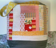 Quilt as you go - Drawstring Bag | Small Sewing Projects ... : quilt as you go tote - Adamdwight.com