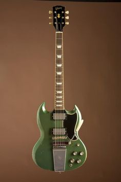 gibsonguitarsg:    From Lenny Kravitz's personal collection. Gibson '68 SG in Pelham Blue.