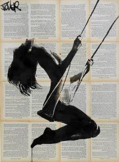 "Saatchi Art Artist Loui Jover; Drawing, ""lightness of being (SOLD)"" #art"