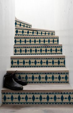 Stairs sticker Art Deco