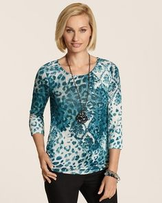 Chico's Leo Luxury Ruched Raye Top #chicos
