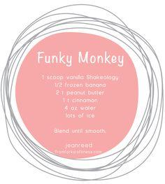 Funky Monkey peanut butter banana shake -- From Forks to Fitness, Shakeology