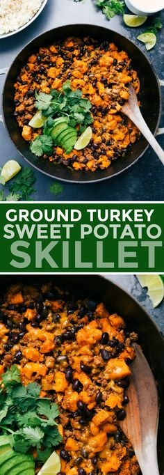 Ground Turkey And Sweet Potato Recipe, Ground Turkey Meal Prep, Ground Chicken Recipes, Ground Turkey Recipes Whole 30, Healthy Ground Turkey Dinner, Healthy Meal Prep, Healthy Cooking, Cooking Recipes, Sweet Potato Recipes Healthy