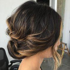 Low Loose Updo For Balayage Hair