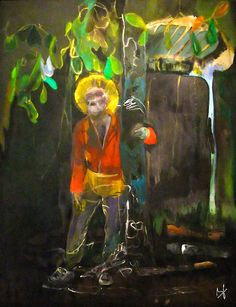 Stag Peter Doig 2002–2005 Oil on canvas 250 x 200 cm Collection of Martin and Rebecca Eisenberg