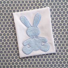 Baby Applique Machine Embroidery DesignBunny by BabyEmbroideryShop on Etsy