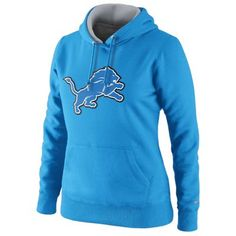 Nike Detroit Lions Ladies Tailgater Pullover Hoodie - Light Blue.....i'd love you forever if you bought this for me