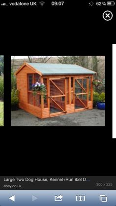 Dog house- or this one Boomer Dog House Bed, Build A Dog House, Dog Bed, Cool Dog Houses, Pet Houses, Dog Runs, Animal Projects, Pet Life, Dog Boarding
