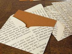 Books page envelopes.