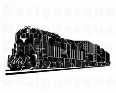Train Clipart, Train Vector, Phoenix Vector, Choo Choo Train, Clipart Black And White, Steam Engine, Locomotive, Cutting Files, Svg File