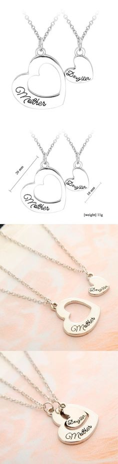 Mother Daughter Double Hollow Heart Pendant Necklace! Click The Image To Buy It Now or Tag Someone You Want To Buy This For.  #motherdaughternecklace