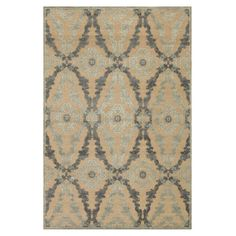 Anchor your living room seating group or define space in the den with this eye-catching art silk rug, showcasing a trellis motif in ivory and silver. Made in...