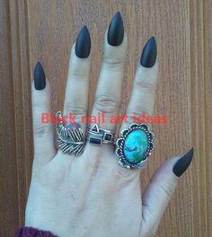 20 SIMPLE BLACK NAIL ART DESIGN IDEAS  #nails Black Nail Art, Black Nails, Black Nail Designs, Nail Art Designs, Fashion Corner, Nail Art Hacks, Nail Art Galleries, Fashion Beauty, Style Nails