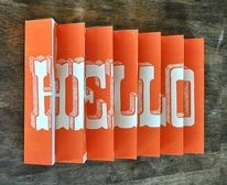 Hello / Goodbye 3D poster by Manvsink on Etsy — Designspiration