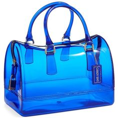 Women's Furla Candy Satchel Bag Ocean featuring polyvore fashion bags handbags ocean furla satchel furla jelly purse blue handbags zipper purse
