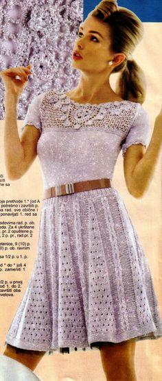 Ivelise Feito à Mão: Vestido Lindo Em Tricô E Crochê