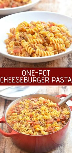 Five Approaches To Economize Transforming Your Kitchen Area One-Pot Cheeseburger Pasta Is Meaty, Saucy, Cheesy And Sure To Be A Family Favorite. It's Quick And Easy To Make And Everything Gets Cooked In One Pot Easy Dinner Recipes, Easy Meals, Pasta Recipes Easy Quick, Delicious Recipes, Tasty, Cheeseburger Pasta, Fettucine Alfredo, Comfort Food, One Pot Meals