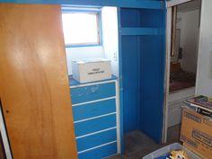 Closet aires of bathroom.