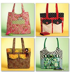 Cute totes...would love to try to make, not sure I can find the time!