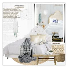 """""""Cozy Bedroom"""" by rainie-minnie ❤ liked on Polyvore featuring interior, interiors, interior design, home, home decor, interior decorating, Skyline, Legacy Home, Serena & Lily and Bloomingville"""
