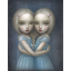 Incubi Celesti The Solo Show by Nicoletta Ceccoli ❤ liked on Polyvore featuring backgrounds, people, art, illustration and random